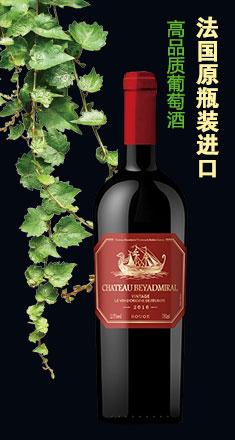 法国原瓶装进口红酒