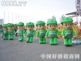 2016郑州糖酒会上9998.TV的战士用朝气演绎