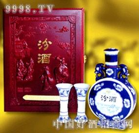 木雕盒中华汾酒
