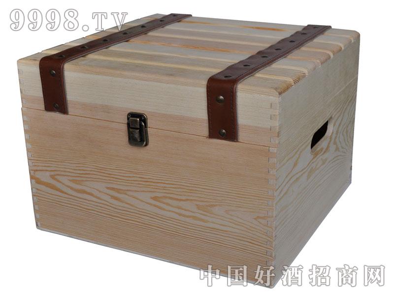 六支干红葡萄酒木箱(白)