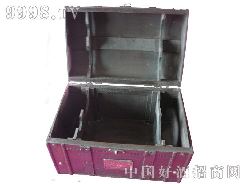 六支干红葡萄酒木箱