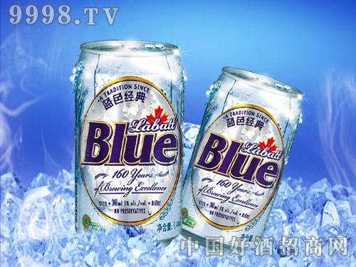 美国蓝带啤酒蓝色经典易拉罐