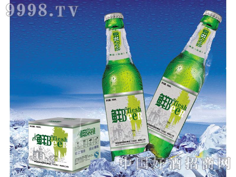 美国蓝带啤酒鲜啤绿瓶