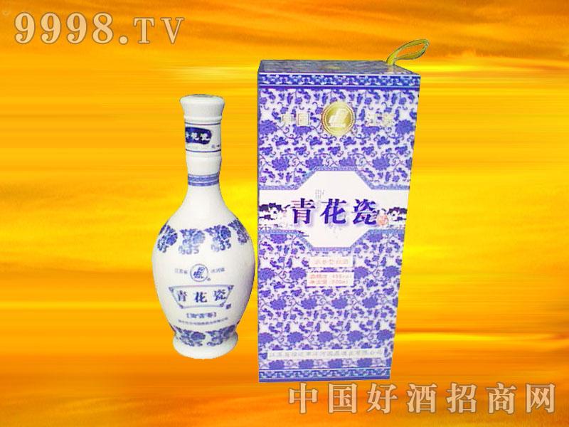 青花瓷木盒