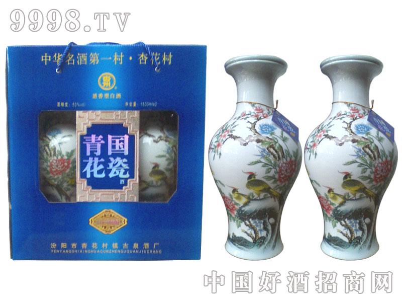 30年青花国瓷花鸟款
