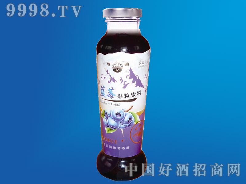 蓝莓果粒饮料