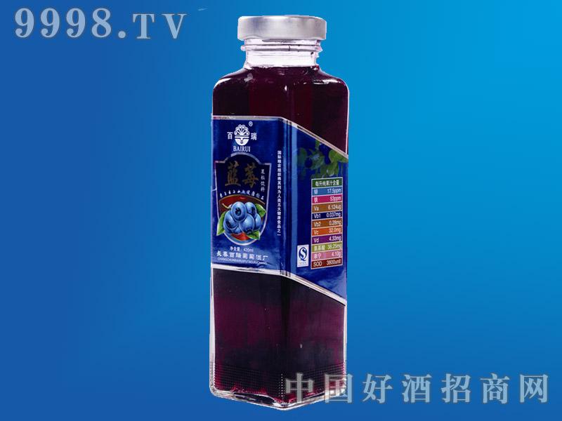 蓝莓果粒饮料420ml