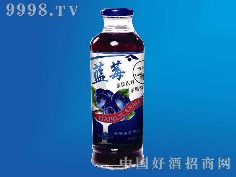 蓝莓果粒饮料木糖醇