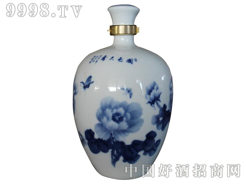 青花瓷工艺品系列-10斤荷花手绘卡扣