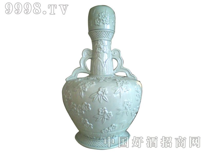 青花瓷工艺品系列-10斤青釉雕刻