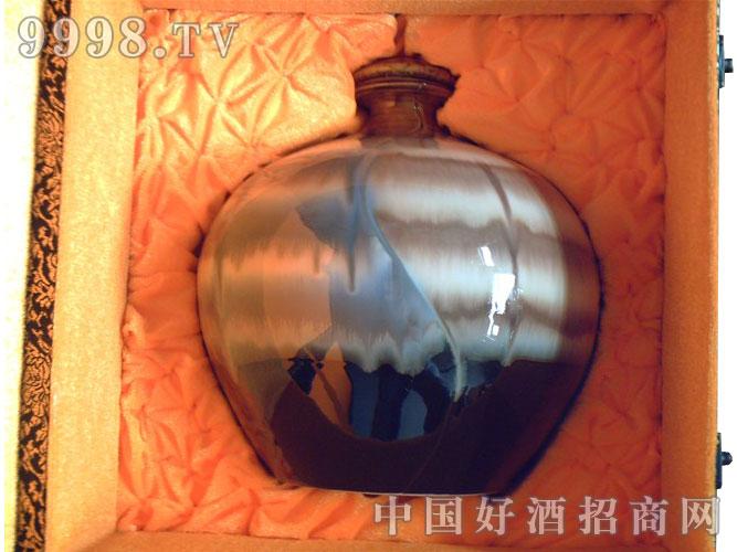 陶艺双面人窑变-球瓶3000ml