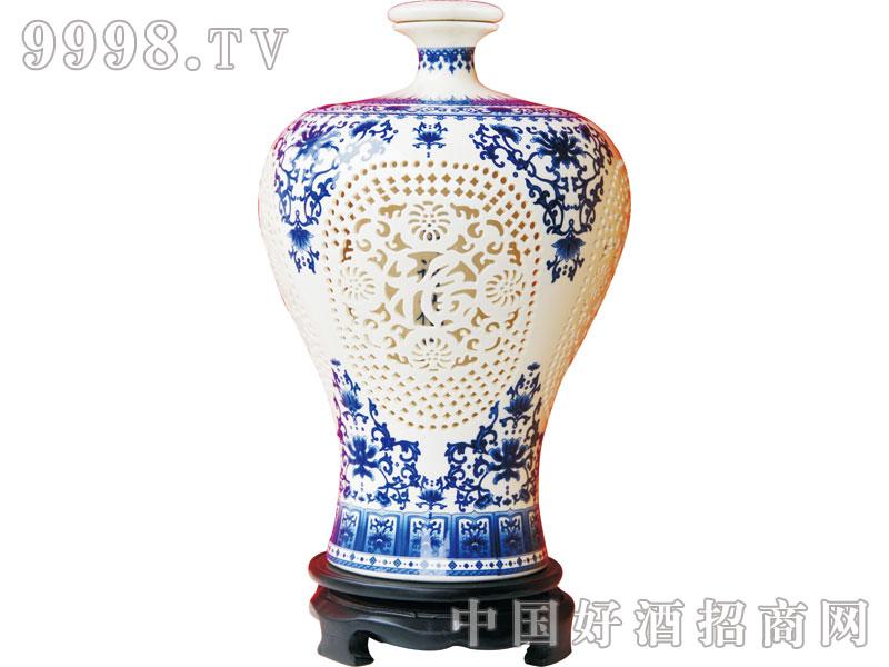 北京二锅头2500ml镂空(蓝)