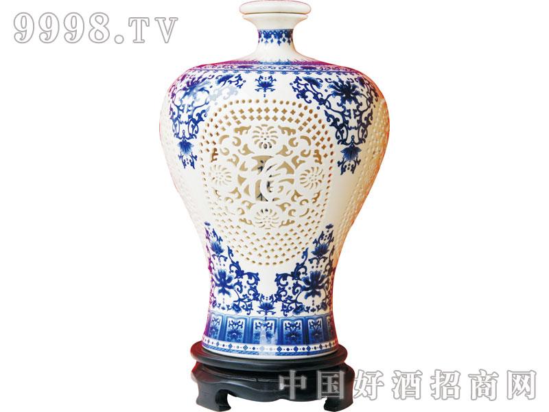 北京二锅头1000ml镂空(蓝)