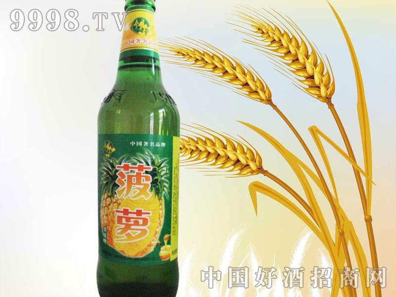 500ml绿瓶菠萝味果啤