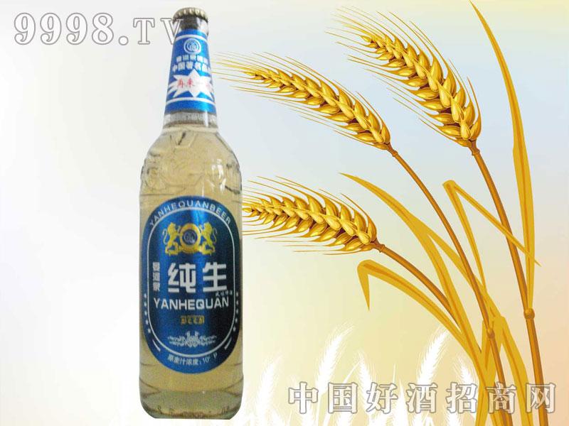 588ml白瓶蓝色经典纯生啤酒