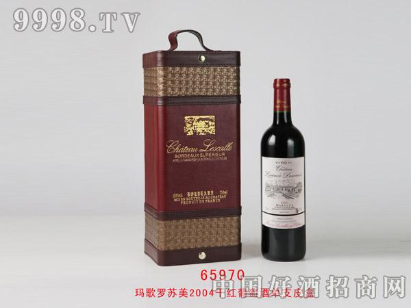 玛歌罗苏美2004干红葡萄酒单支装