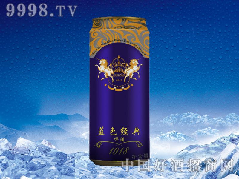 美国蓝带啤酒蓝色经典500ml拉罐