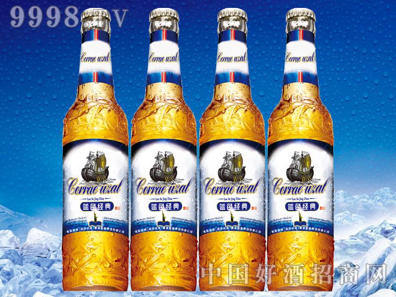 美国蓝带啤酒蓝色经典588ml黄瓶
