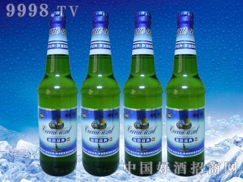 美国蓝带啤酒蓝色经典488ml绿瓶