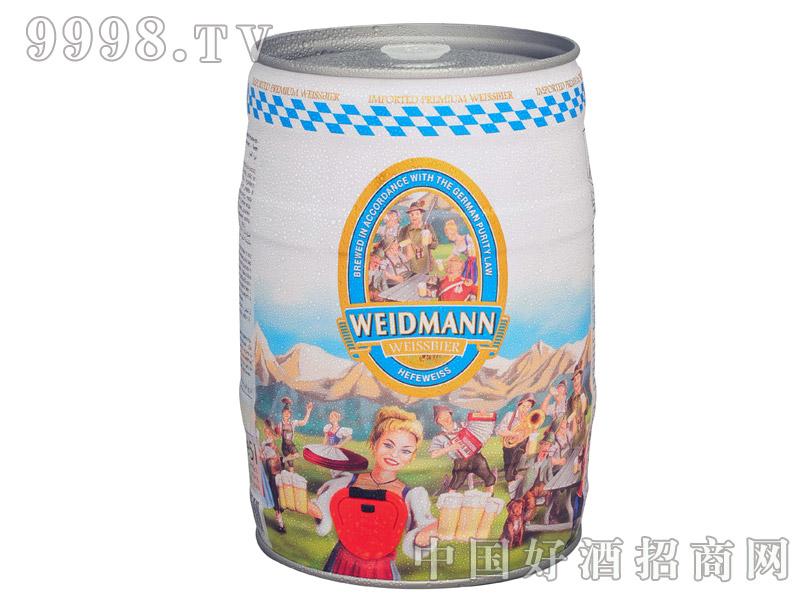 威德曼原浆小麦白啤酒5升装