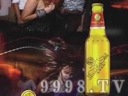 狮牌啤酒海报