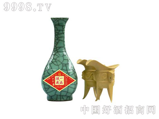 05版一品泸府开片清花瓷酒