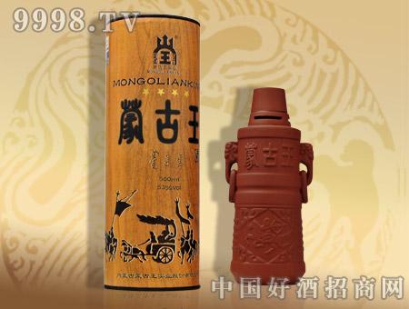 53度木纹紫砂蒙古王酒