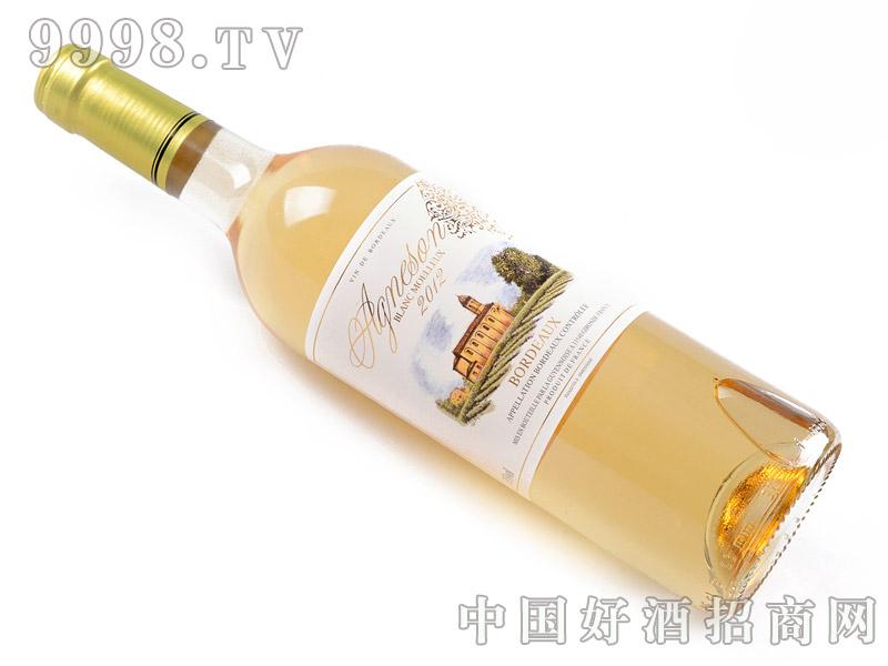 艾颂天使之翼甜白葡萄酒斜