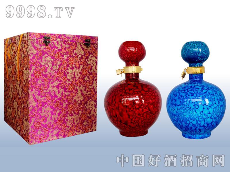 珍珠釉(红釉、蓝釉)