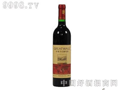 长城干红葡萄酒北纬40°V5蛇龙珠-红酒招商信息