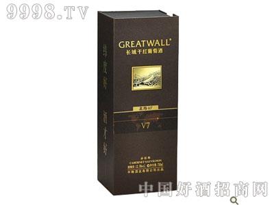 长城干红葡萄酒北纬40°V7赤霞珠方纸盒