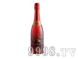 激情飞扬草莓甜起泡酒 红葡萄酒750ml
