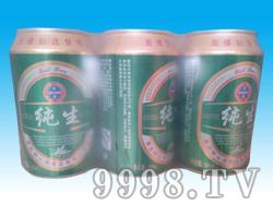 崂山泉啤酒330ml六连包纯生易拉罐