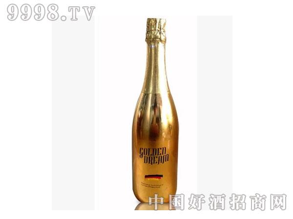 土豪金银起泡香槟酒