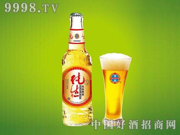 崂山泉千赢国际手机版330ml白瓶金装纯生