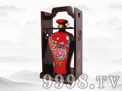 蒙王白酒(红花瓷)