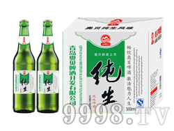 500毫升啤酒招商 流通纯生啤酒花