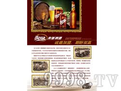 奔驰啤酒宣传页