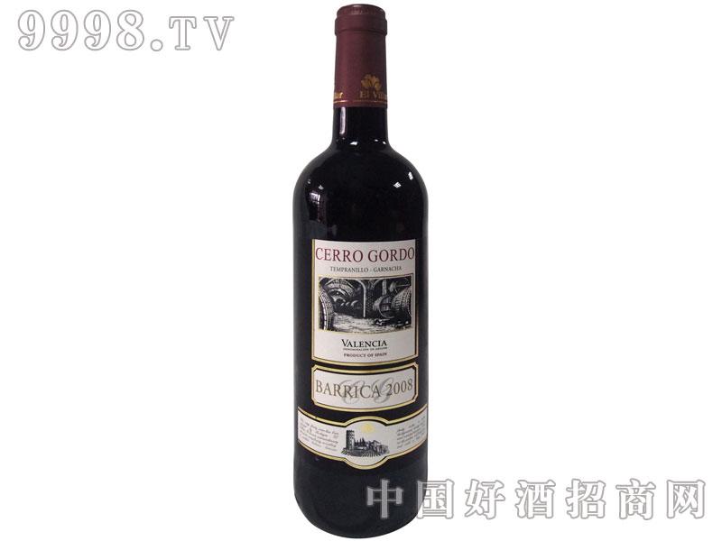 高山2008巴力克红葡萄酒