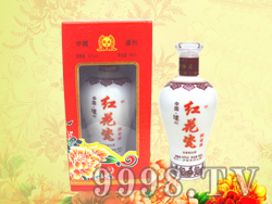 泸州烤花红花瓷酒