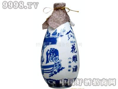 500ml景德镇青花瓷瓶八年陈花雕酒绍兴黄酒