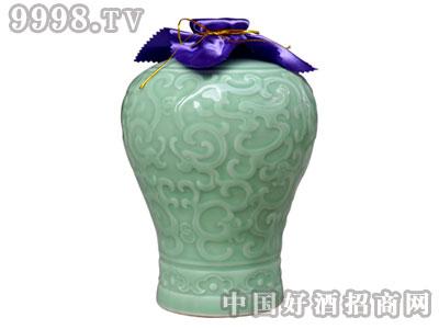 绍兴黄酒花雕酒青瓷坛2.5L百年雕王