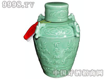 绍兴黄酒花雕酒青瓷坛百年雕王