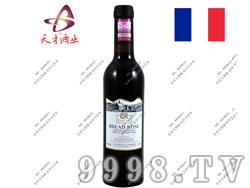 法国布莱德洛斯AOC梅洛2010干红葡萄酒小瓶红酒375ml
