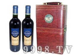 拉菲传说干红葡萄酒春节特惠双支皮盒套装
