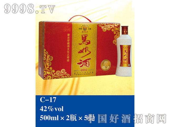 C-17马奶酒42%vol 500ml×2瓶×5提