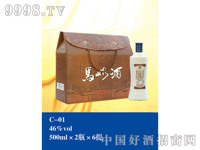 C-01马奶酒46%vol 500ml×2瓶×6提