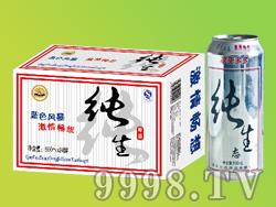 众成酒业蓝色精品纯生500ML