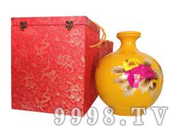 水酒坊-珍藏原浆(十斤)橙色陶瓷