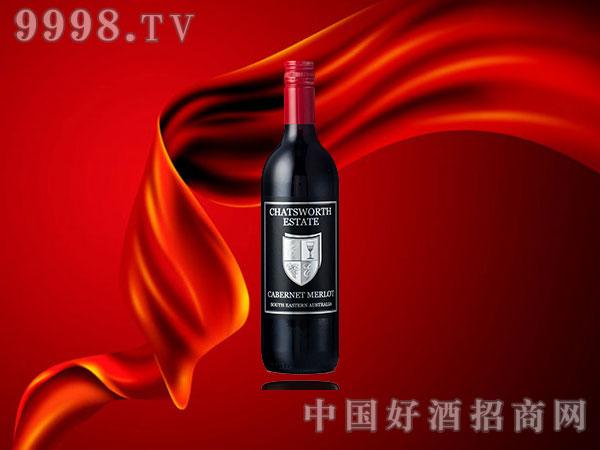 凯特斯沃斯黑标赤霞珠美乐红葡萄酒